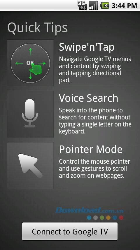 Google TV Remote für Android 1.1.0 - Steuern Sie das Fernsehgerät fern