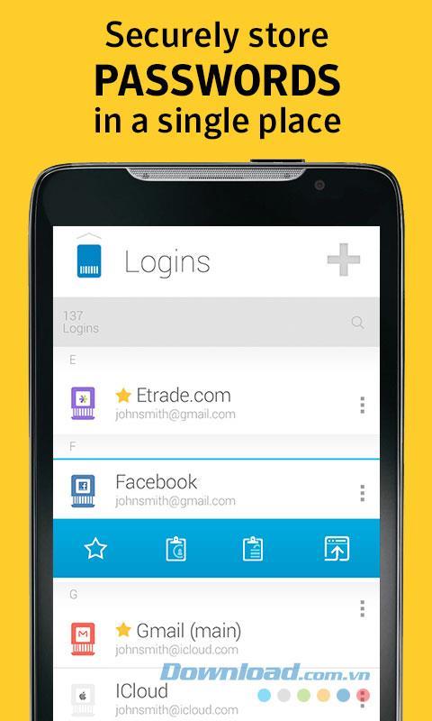 Norton Password Manager forAndroid-Androidデバイスからユーザー名とパスワードにアクセスします