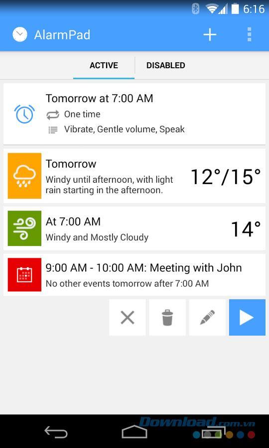 AlarmPad für Android 1.3 - Wecker für Android