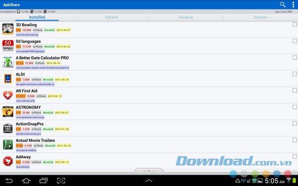ApkShare for Androidv20140316-Androidでapkファイルを共有する
