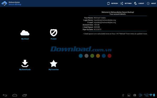Malwarebytes Secure Backup for Android1.5.3.206-Androidでデータをバックアップ