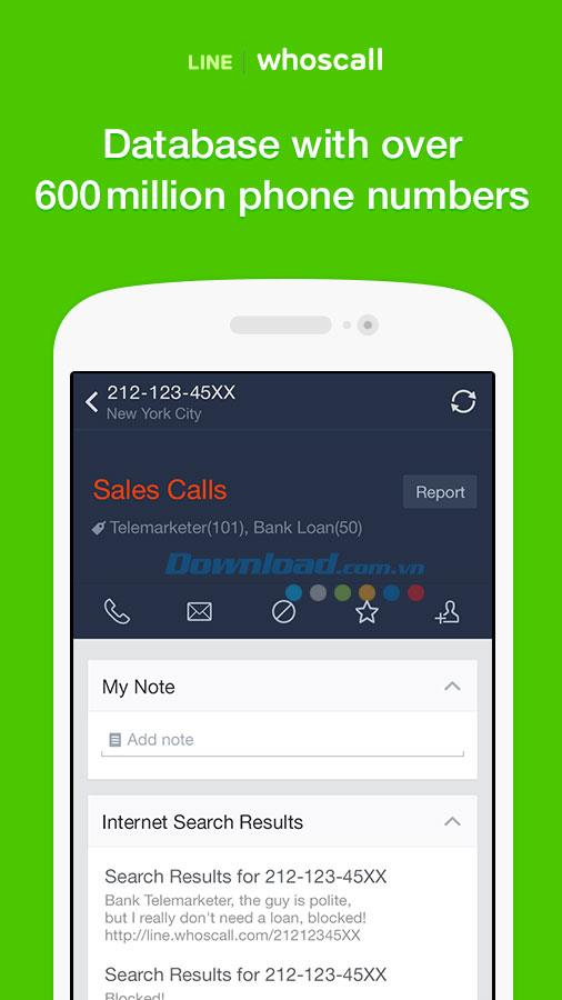 LINE whoscall for Android3.10.0.2-Androidで電話番号を検出する