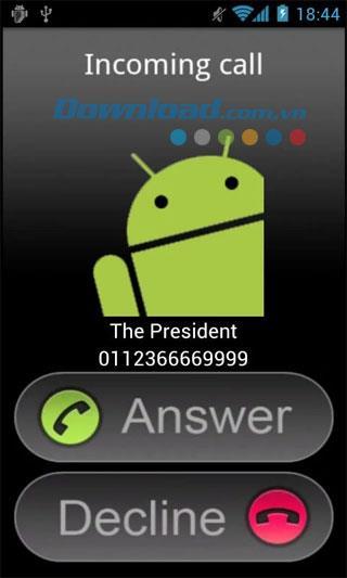 Android用の無料のスーパーフェイクコール1-仮想通話を作成するアプリケーション
