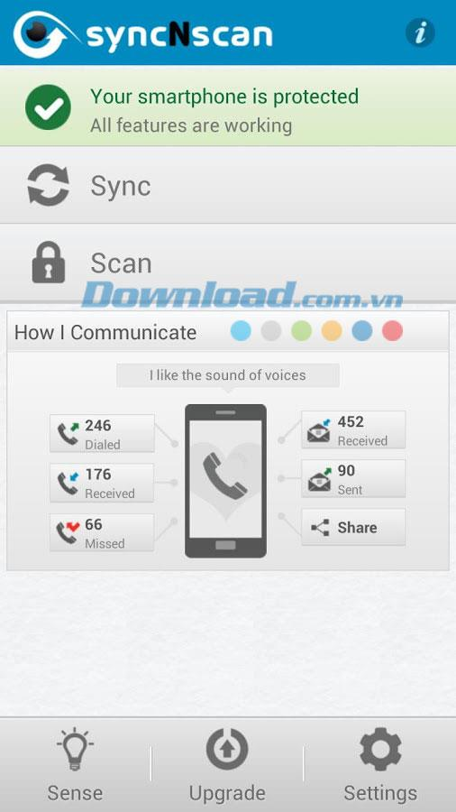 syncNscan for Android3.0.7-Android用のセキュリティおよびウイルス対策アプリケーション