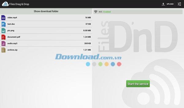 Android1.2.4用のファイルのドラッグアンドドロップ-Android携帯でコンピューターを制御する
