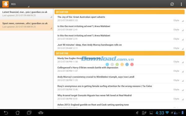 DS-Download für Android 1.2 - Verwalten Sie Download-Aufgaben auf Android
