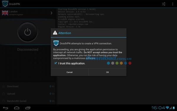 DroidVPN für Android 2.1 - Zugriff auf eine sichere Website für Android