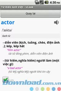 Vlook for Android1.6-英語を検索-ベトナム語辞書