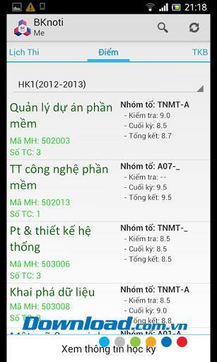 BKnoti für Android 1.4 - Anwendung zum Nachschlagen von Informationen für Schüler