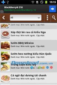 Android1.3.5の食品と健康-簡単な料理の作り方