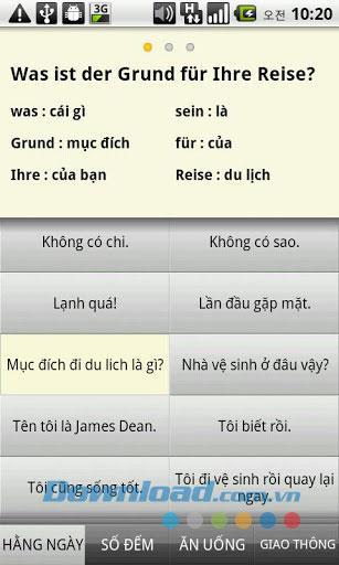Android1.9のドイツ語会話
