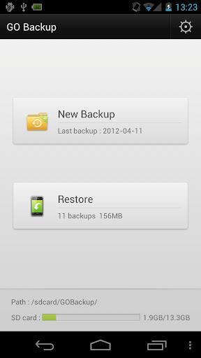 GO Backup für Android - Sichern und Wiederherstellen von Daten auf Android