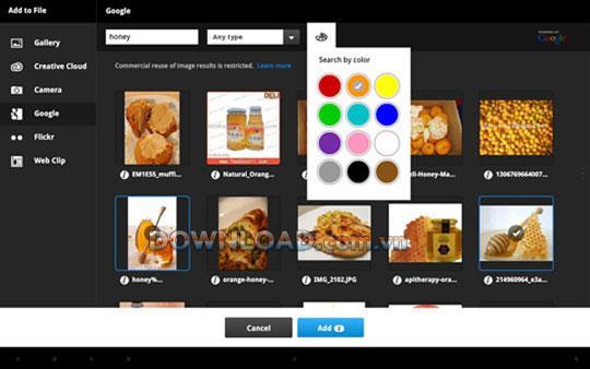 Android用AdobeCollage-Androidのムードボードクリエーター