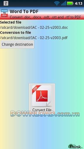 Word To PDF (doc, docx) für Android - Konvertieren Sie Word in PDF
