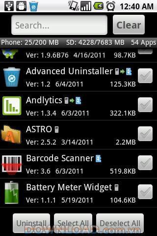 Android用ProbcompAdvancedUninstaller-アンインストールツール