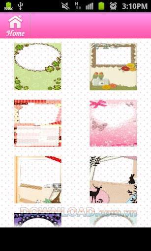 PhotoCard für Mädchen (Android) - Fügen Sie dem Foto einen Kommentar hinzu