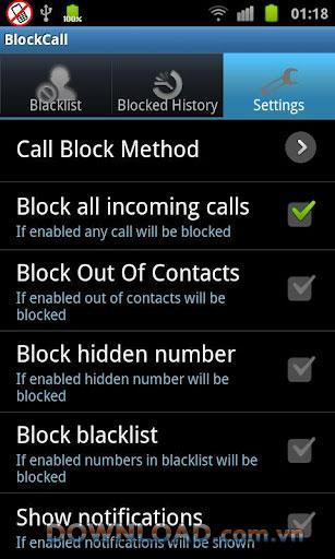 コールブロッカー+ Android用-無料のコールブロッキング