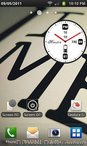 Android用Maestro時計ウィジェット-美しい時計ウィジェット
