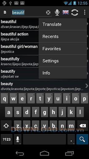 無料辞書:Android用クロアチア語英語-英語-クロアチア語辞書