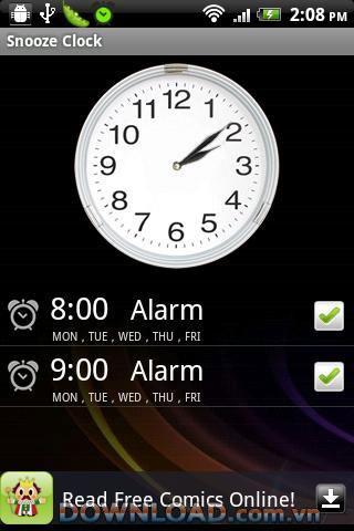 Snooze Clock-Free für Android - Wecker