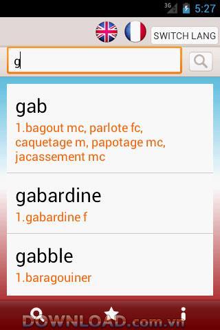 Französisch Englisch Wörterbuch Für Android - Französisch - Englisch Wörterbuch