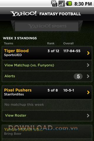 Yahoo!  Fantasy Football '11 forAndroid-スポーツニュースの更新