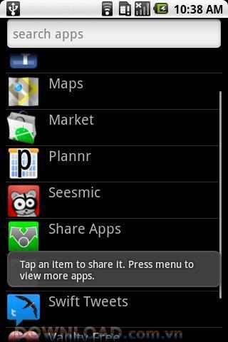 Partager des applications pour Android