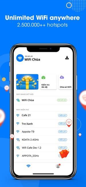 WiFi Chùa für Android 5.3.0 - Teilen und verbinden Sie sich mit kostenlosem Wifi