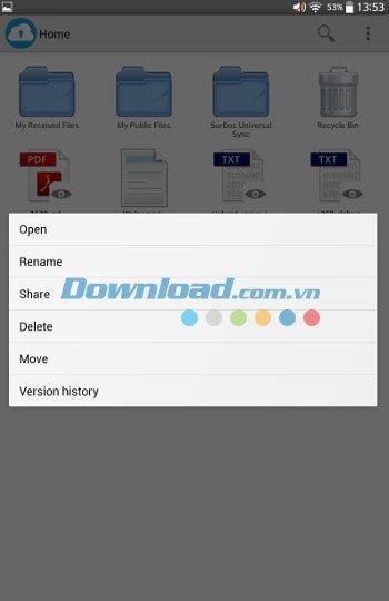 SurDoc für Android 1.3.8.0 - Kostenloser Cloud-Speicherdienst über 100 GB
