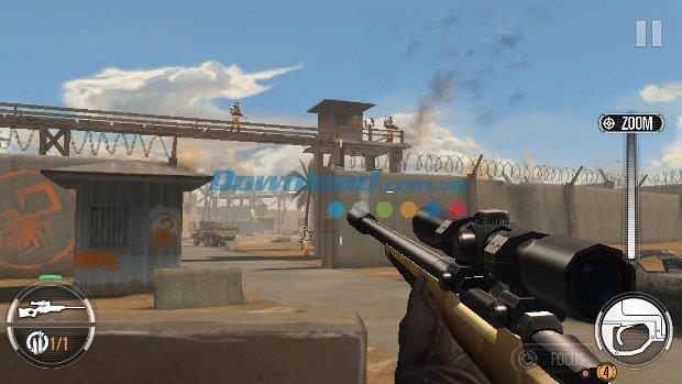 Sniper X mit Jason Statham für iOS 1.0.0 - Echter FPS-Shooter auf iPhone / iPad