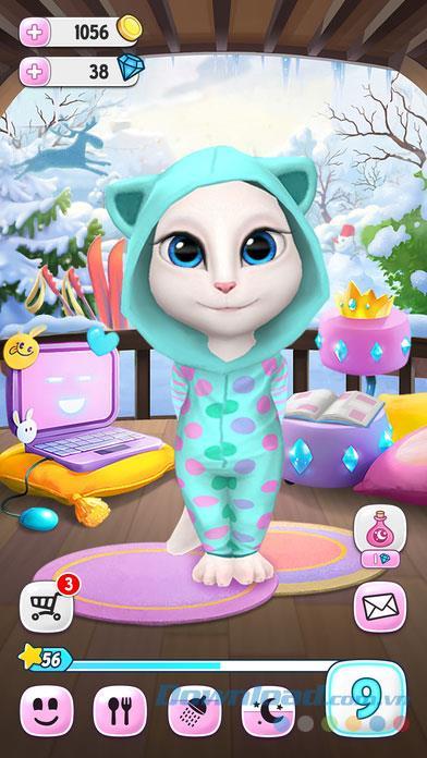 My Talking Angela for iOS 4.2.1-iPhone / iPadで無料の猫ゲームのパロディーボイス