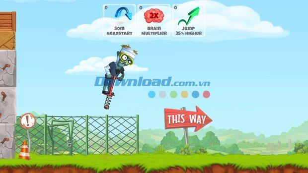 Zombie's Got a Pogo pour iOS 1.1 - Jeu de zombie marchant sur pilotis sur iPhone / iPad