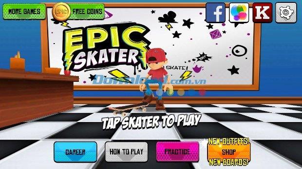 Epic Skater für iOS 1.46.3 - Super Skateboard-Spiel auf iPhone / iPad