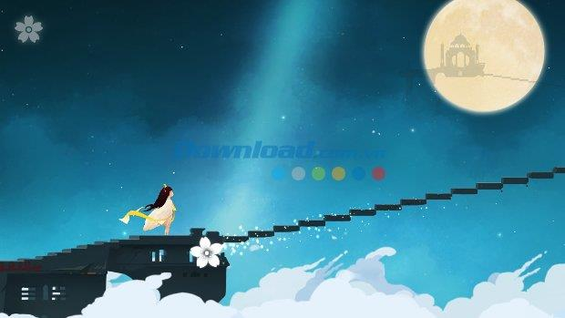 iOS1.0.4用の月見花-月に向かう途中のゲーム