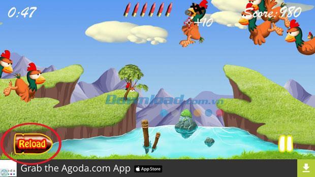Chicken Hunter für iOS 1.2 - Klassisches Hühnerschießspiel auf iPhone / iPad