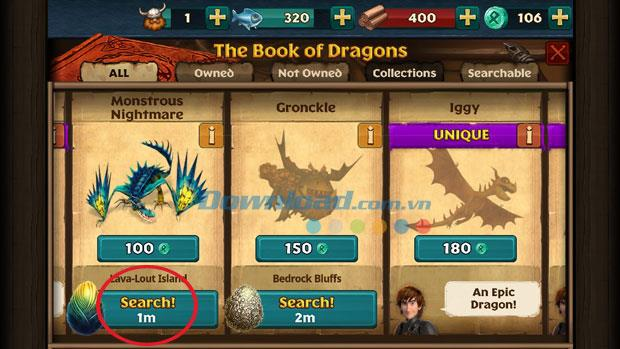 Dragons: Rise of Berk für iOS 1.25.11 - Game Dragon Training Secret 2 auf iPhone / iPad