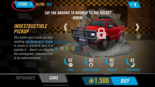Top Gear: Caravan Crush pour iOS 1.4 - Action de vitesse de jeu combinée sur iPhone / iPad