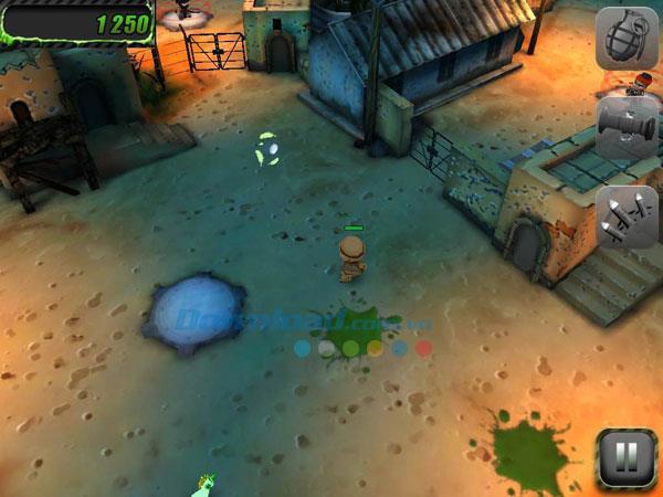 iOS1.4用のTinyTroopers-iPhone / iPadでの小さな兵士のゲーム