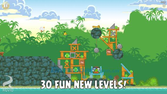 Angry Birds-iOS8.0.1用のABClassic-ゲームAngryBirdsの誕生日バージョン7歳