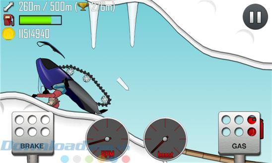 Hill Climb Racing pour iOS 1.48.0 - Jeu de conduite en haute montagne