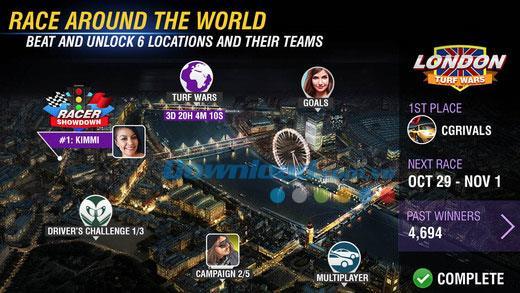 Racing Rivals pour iOS 5.0.0 - Jeu de course gratuit sur iPhone / iPad