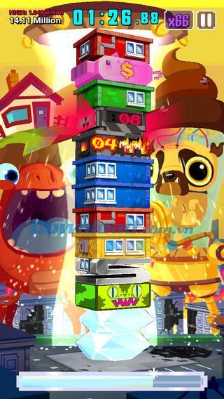 Les super monstres ont mangé mon condo!  pour iOS 1.3 - Jeu de puzzle intellectuel attractif sur iPhone / iPad
