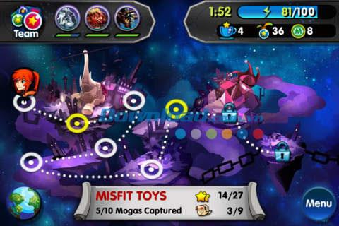 Monster Galaxy: Exile für iOS 1.07 - Monster-Zähmungsspiel auf iPhone / iPad