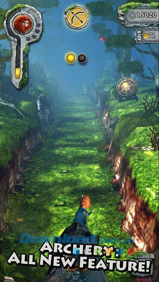 Temple Run:Brave for iOS 1.5.0-iPhone / iPadのゲームマスコット泥棒