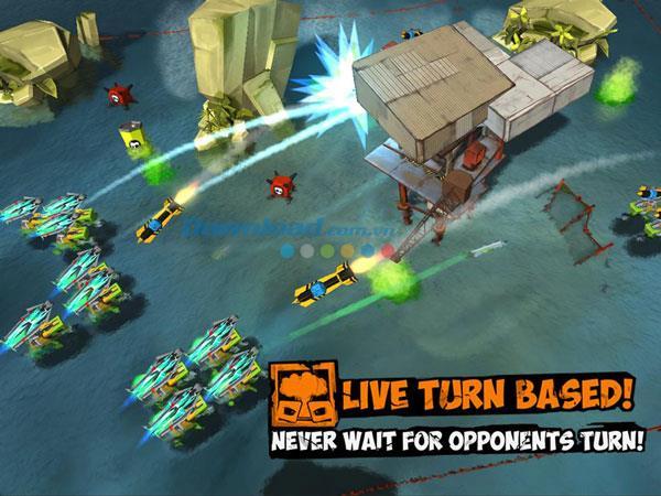 TurtleStrike for iOS1.4-ゲームタートルがiPhone / iPadでお互いを撃ち合う