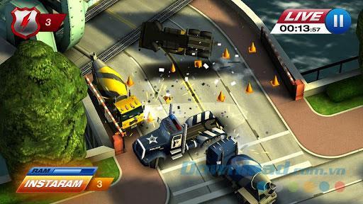 Smash Cops Heat pour iOS 1.09.01 - Jeu de poursuite criminelle pour iPhone / iPad