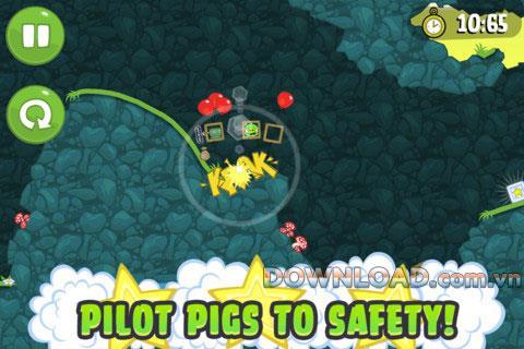 Bad Piggies für iOS 2.3.4 - Spiel des hässlichen grünen Schweins für iPhone / iPad