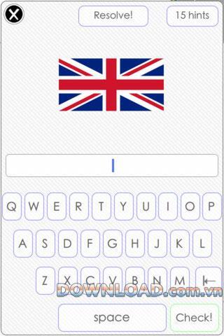 FlagsQuizGame für iOS - Errate den Ländernamen über die Flagge