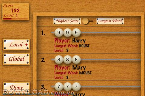 Word Abacus Free for iOS-iPhone用のゲームエンターテインメント
