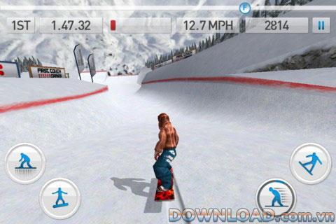 iOS用フレッシュトラックスノーボード-iOS用スノーボードゲーム
